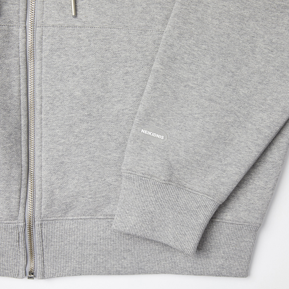 [기모] WORLD LOGO ZIP UP / GRAY