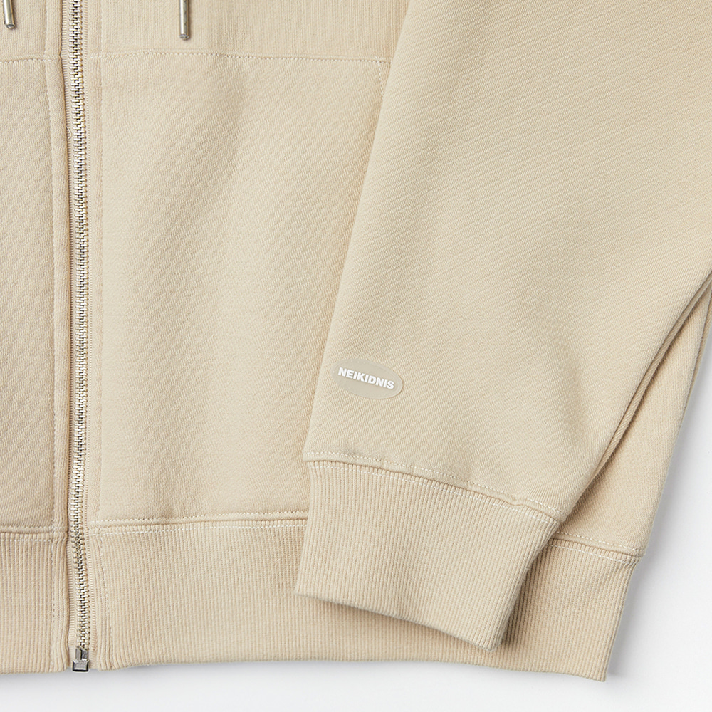[기모] WORLD LOGO ZIP UP / BEIGE