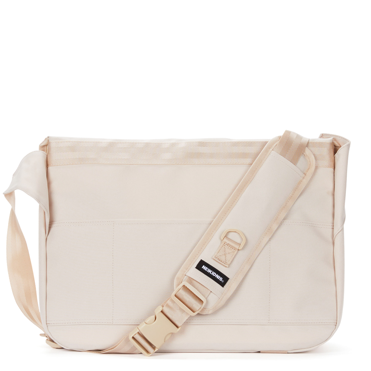 WIDE VISION MESSENGER BAG / LIGHT BEIGE