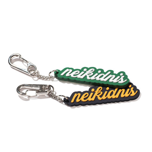 LETTERING RUBBER KEY RING / GREEN