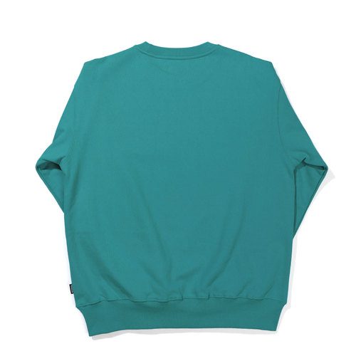 [기모] CURVED LOGO SWEAT SHIRT / MINT