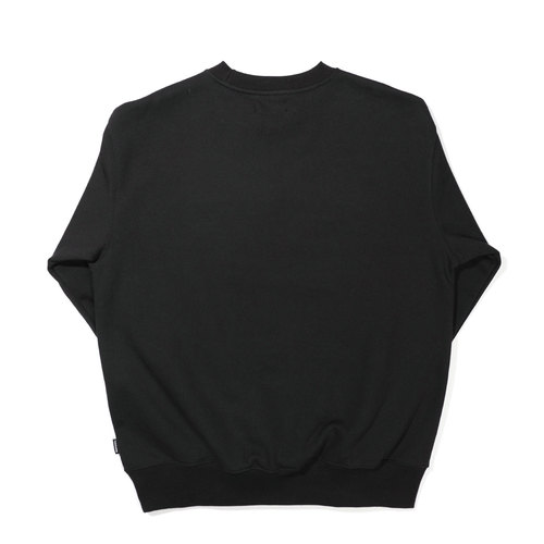 [기모] SERIF SWEAT SHIRT / BLACK