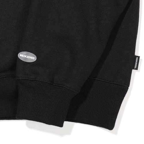 [기모] CURVED LOGO SWEAT SHIRT / BLACK