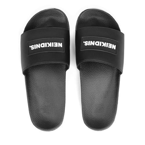 RUBBER LOGO SLIDE / BLACK