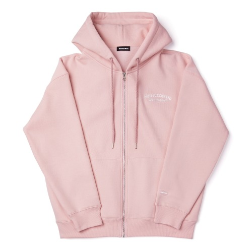 [기모] WORLD LOGO ZIP UP / PINK