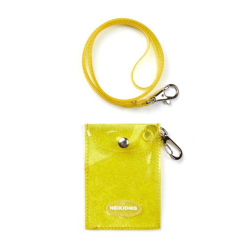 GLITTER CARD WALLET / YELLOW