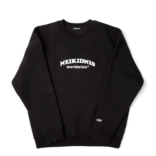 [기모] WORLD LOGO SWEAT SHIRT / BLACK