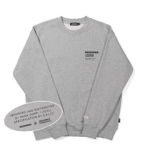 [기모] SPEC LOGO SWEAT SHIRT / GRAY