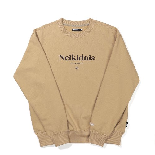 [기모] SERIF SWEAT SHIRT / BEIGE