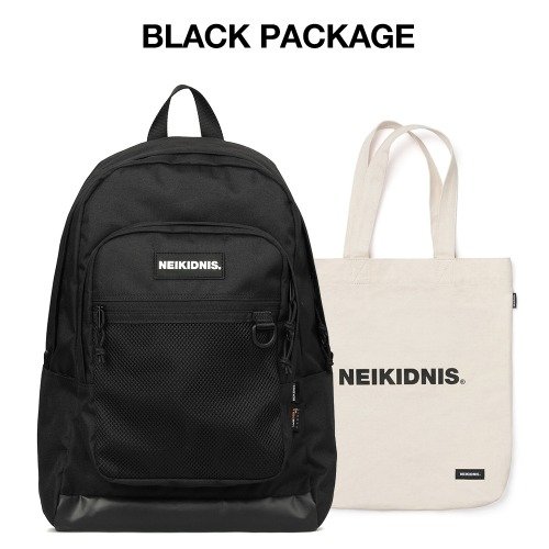 [집콕러 패키지] ACADEMY BACKPACK / BLACK