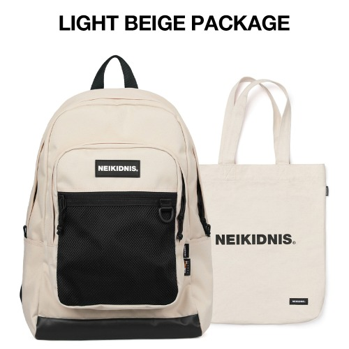 [집콕러 패키지] ACADEMY BACKPACK / LIGHT BEIGE