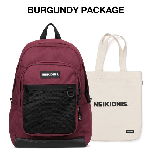 [집콕러 패키지] ACADEMY BACKPACK / BURGUNDY