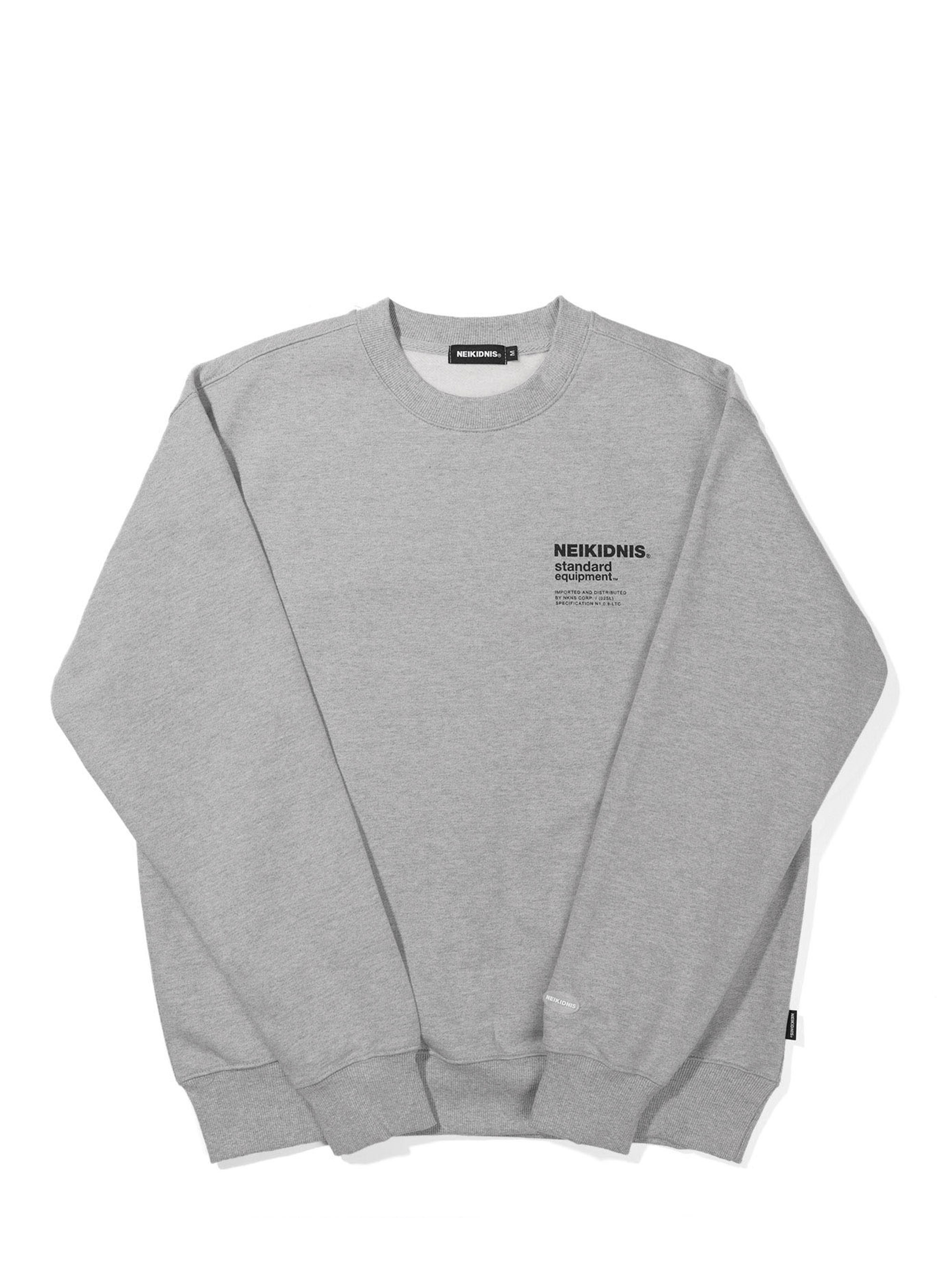 SPEC LOGO SWEAT SHIRT / GRAY