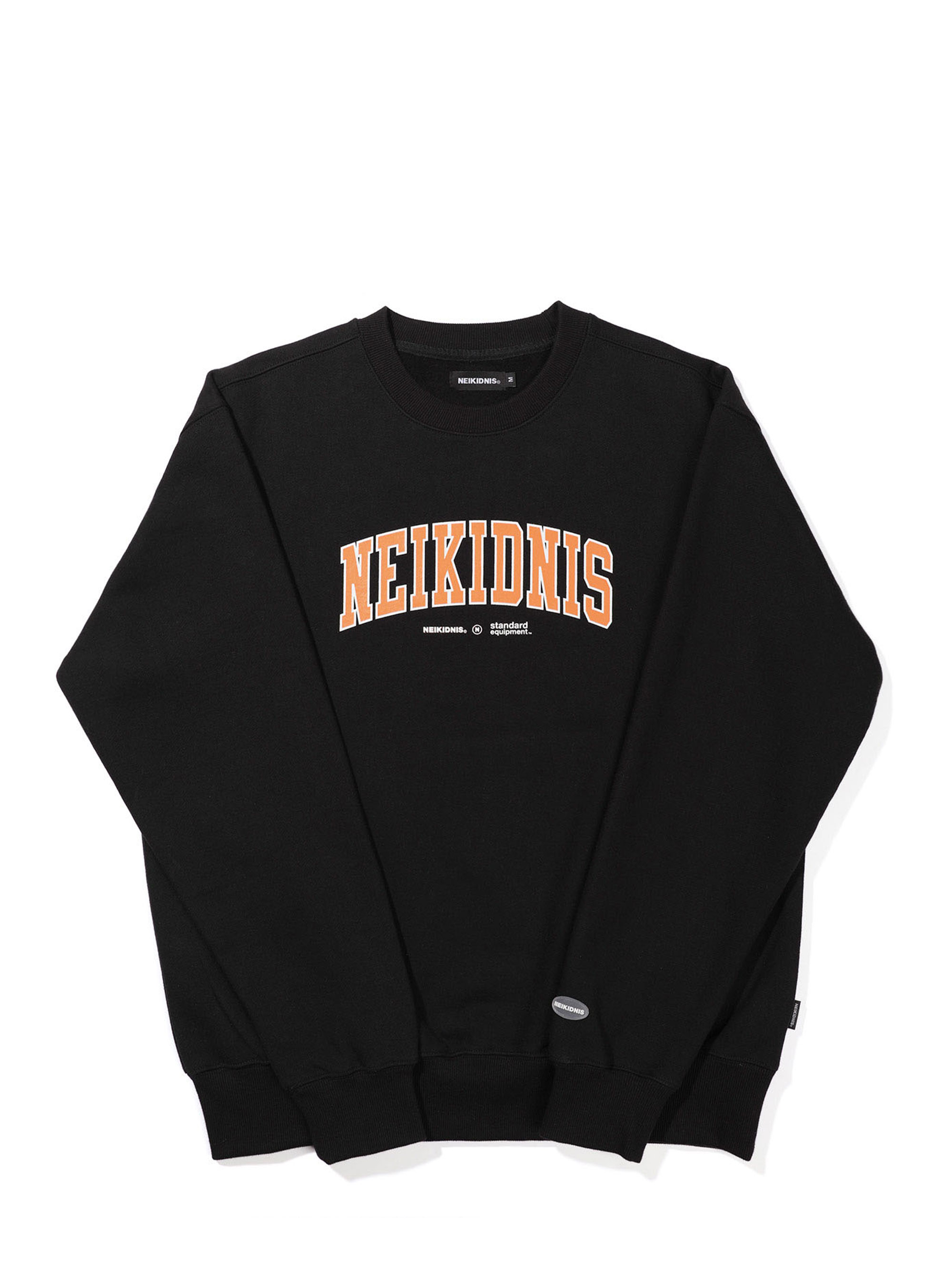 CURVED LOGO SWEAT SHIRT / BLACK